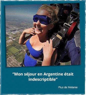 Stage à l'étranger en Amérique du Sud: Melanie en Argentine
