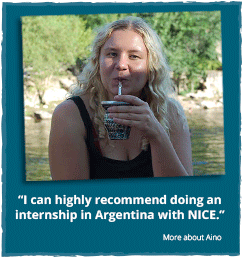 Aino`s experiences with her NICE internship in Argentina