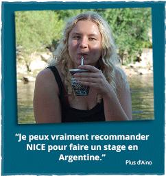 Rapport d'expériences de Aino concernant son stage en Argentine avec NICE