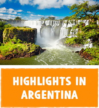 South America Argentina Touristic highlights