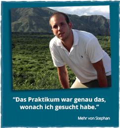 Fachpraktikum im Ausland - Erfahrungsbericht von Stephan