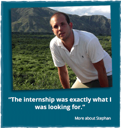 Internship program: Testimonial Stephan