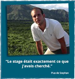 Stage à l'étranger - Rapport d'expériences de Stephan