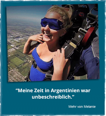 Südamerika reisen: Fallschirmsprung