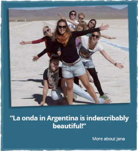 Jana`s experiences with her volunteering in South America