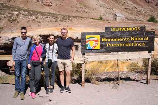 Puente del Inca in den Anden