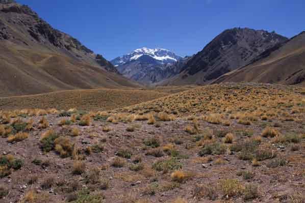 Parque Nacional Aconcagua in den Anden